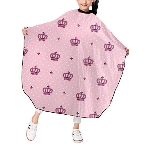 Friseursalon Haarschneideumhang Royal Crown Imperial Hair Cutting Cape Kids Salon Haircut Styling Smock Cover Cloth for Toddler