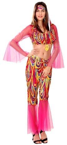 Imagen de disfraz hippie para mujer talla s = 34 38
