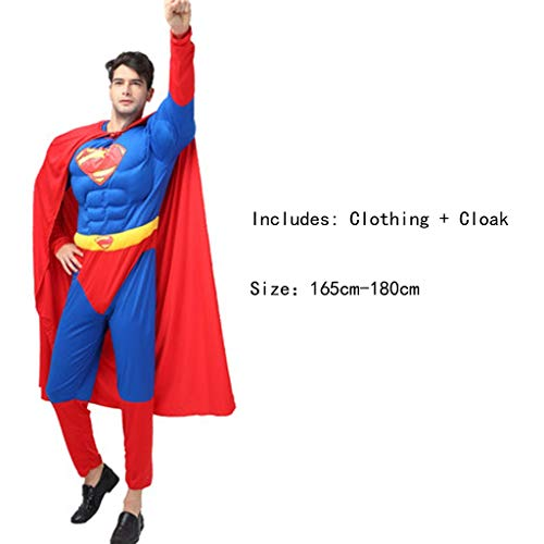 Cartoon Anime Dress Up Charakter Erwachsene Kostüm Printed Hero Cosplay Kostüm (Superman) ()
