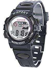 Clearance Sale! Waterproof Children Boys Digital LED Sports Watch Kids Alarm Date Watch Gift - B07H6TF77P
