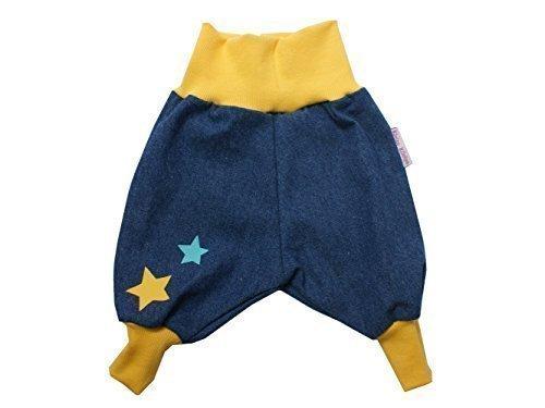 """Baby Jeanshose """"Stars"""" gelb Gr. 62 - 104 von Kleine Könige Größe 98/104, Farbe weiß"""