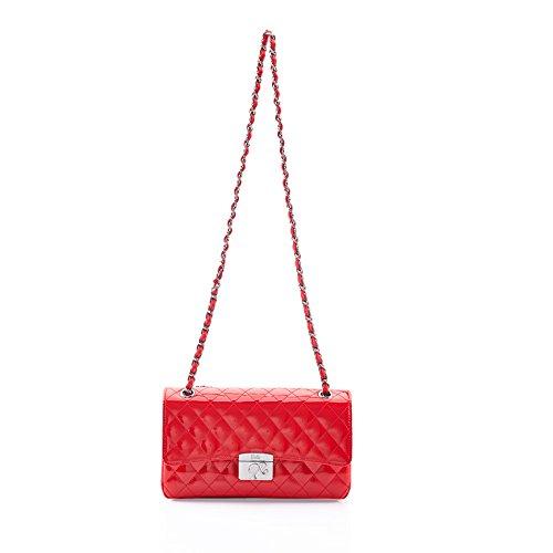 Nuevo Barbie BBFB087.04A Bolso Clásico de Estilo bolera en color rojo para mujer