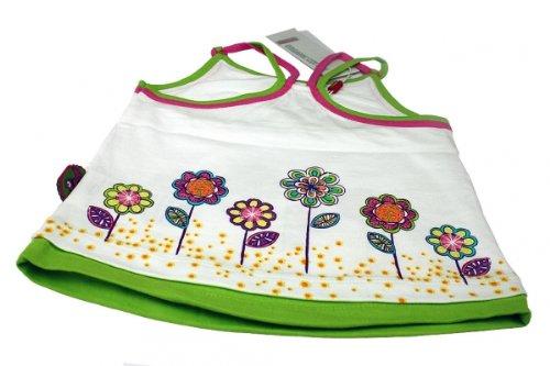 NAME IT - Mädchen Sommer-Top weiss mit Blumendruck Größe 74