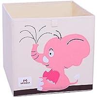 Meshela Aufbewahrungsbox für Kinderzimmer faltbarer waschbarer Cartoon Spielzeugkiste geeignet für Spielzeug, Kleidung, Kinderbücher Aufbewahrungskiste