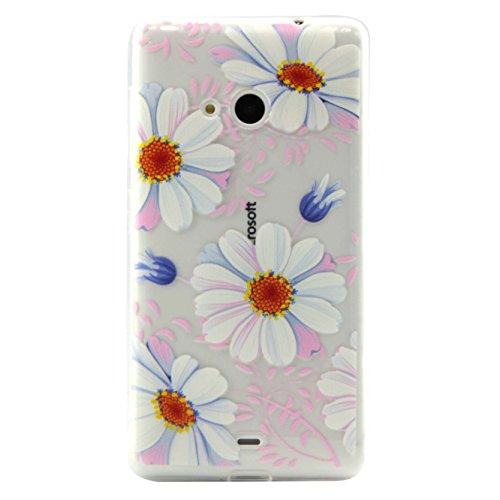 Nokia Lumia 535 N535 Hülle,BONROY® Muster TPU Case SchutzHülle Silikon Case Tasche Weiches Transparentes Silikon Schutzhülle Malerei Muster Ultradünnen Kratzfeste Tasche Schutzhülle Hülle Case Cover Etui TPU Bumper Schale für Nokia Lumia 535 N535