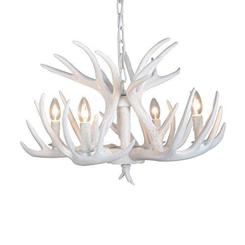 Antlers vintage chandeliers/Lustres et Plafonniers Lampes/Lampes de plafond avec Bois Suspension Eclairage Antlers vintage Style résine 6 lustres de lumière, American rural campagne