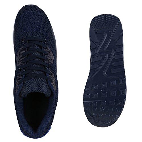Herren Damen Sportschuhe Laufschuhe Runners Sneakers Prints Dunkelblau