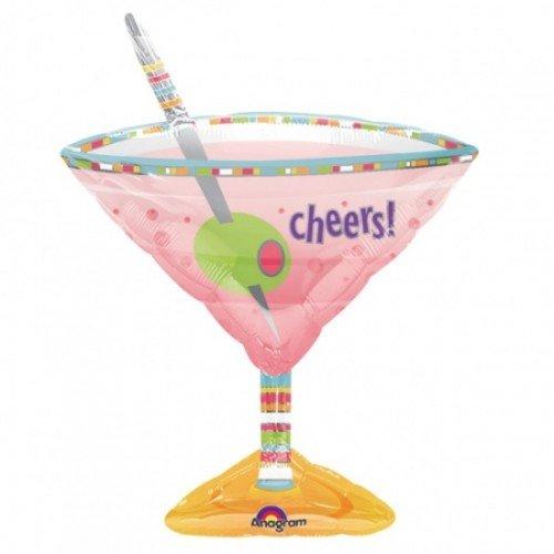 Amscan International S-förmigen Oliven Martini Glas