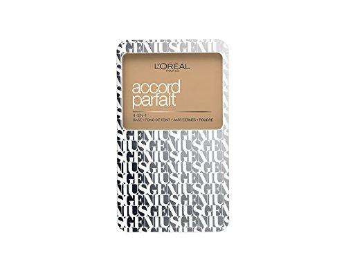 L'Oréal Paris A7883600 Accord Parfait Genius 4 in 1 Fondotinta Compatto 3D, Beige Doré