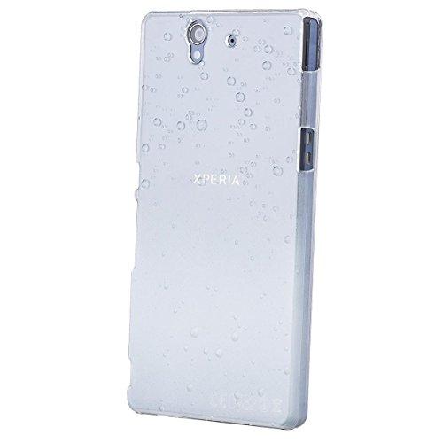 iCues Sony Xperia Z - L36H |  Wassertropfen Case Weiss | [Display Schutzfolie Inklusive] Transparent Klarsichthülle Durchsichtig Klare Klarsicht Schutzhülle Hülle Cover Schutz (Sony Xperia Z L36h Zubehör)
