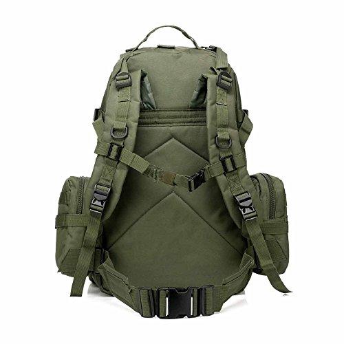 Tactical Rucksack Paket mit 2.5L Hydration Wasser Blase und 3MOLLE Taschen Grün