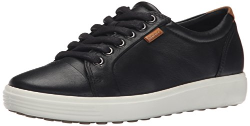 Ecco Damen Soft 7 Sneakers, Schwarz (Black 01001), 37 EU (4.5 UK)