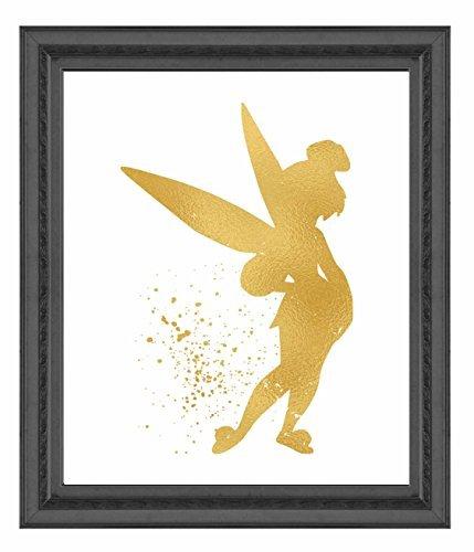 ld Print Inspiriert von Peter Pan-Gold Poster Druck Foto Qualität-Made in USA-Home Art Print-Rahmen Nicht im Lieferumfang Enthalten 8x10 Tinkerbell ()