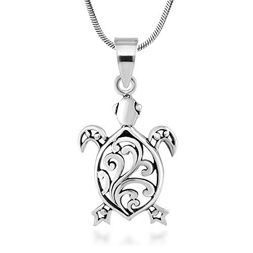 argent-sterling-925-tortue-de-mer-en-filigrane-animal-pendentif-collier-457-cm-sans-nickel