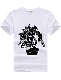 ACEGI Camiseta de Manga Corta Patrón Pintado a Mano Algodón 3D HD Ropa de Verano MOBA