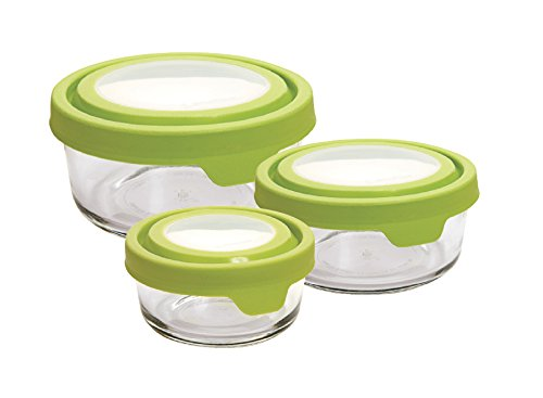 Anchor Hocking TrueSeal 6-Piece Round Glass Food Containers with Lids, Green Anchor Hocking-set
