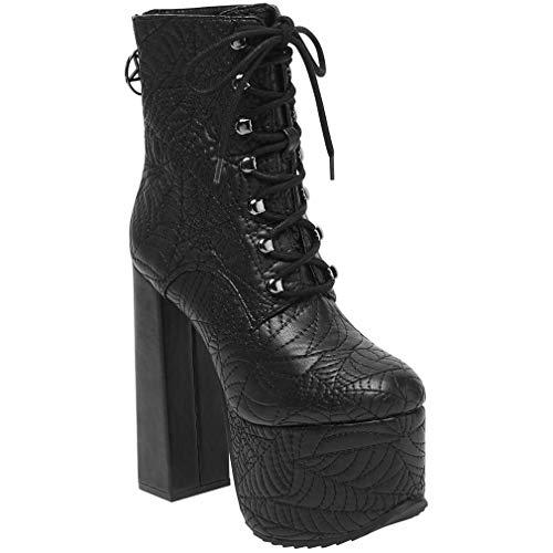 Killstar - Botas de Sintético para Mujer Negro Negro One Size, Color Negro, Talla 38 EU