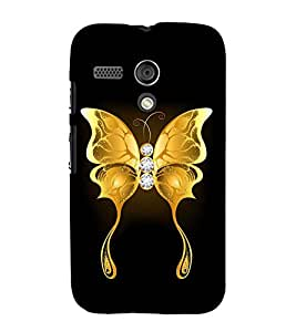 Fuson Designer Back Case Cover for Motorola Moto G :: Motorola Moto G (1st Gen) :: Motorola Moto G Dual (The golden butterfly)