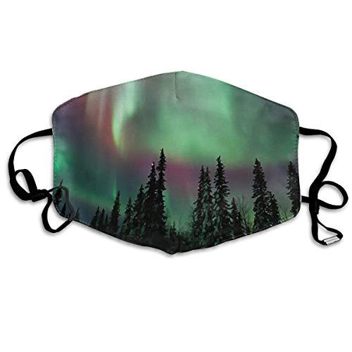 Aurora Borealis Face Mouth Mask Unisex Polyester Comfy Anti Dust Masks Aurora Fleece
