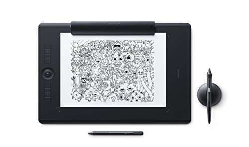 Wacom Intuos Pro Paper Edition Stifttablett Größe L – Grafiktablett mit Papierklemme inkl. Wacom Pro Pen 2 Eingabestift mit verschiedenen Spitzen & Wacom Finetip Pen – Kompatibel mit Windows & Apple