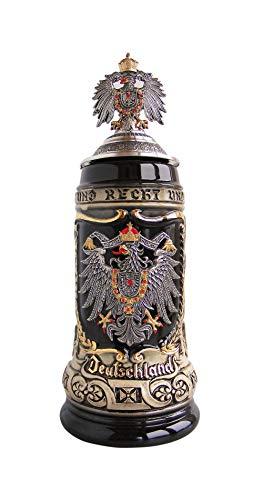 Bierkrug Deutschland mit Bundesländerwappen Seidel 0,5 Liter Bierseidel ZO 1425/9009