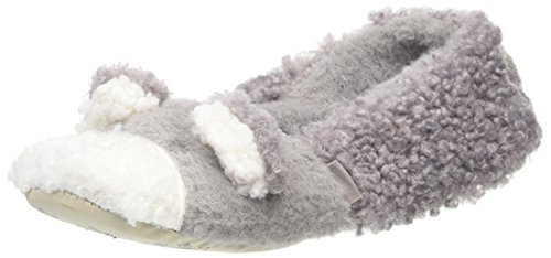 Totes Novelty Bear Ballet Slippers, Pantofole Donna Grigio (Grey)