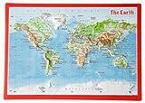Reliefpostkarte Welt