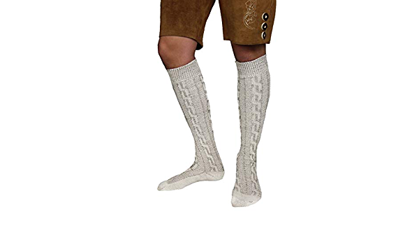 Trachtenstrümpfe Kniebundstümpfe Kniestrümpfe Tracht Trachten Socken natur mel.