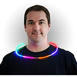 The Glow Company FLASHROPNECK - Collar de Cuerda Intermitente, 1 Unidad