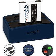 Batteria + Caricabatteria doppio (USB) EA-BP70A per Samsung PL20, PL80, PL90, PL100.. | ST30.. | ES80.. | AQ100 | DV150F | MV800 | WP10 uvm... - v. lista! (Cavo USB micro incluso)