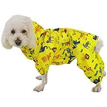 BbearT - Chubasquero para Mascotas, diseño Divertido con Capucha y Capucha Impermeable, para Perros