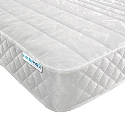 -[ Bedzonline Micro Quilted Budget Mattress, Damask, Deep White, Single  ]-