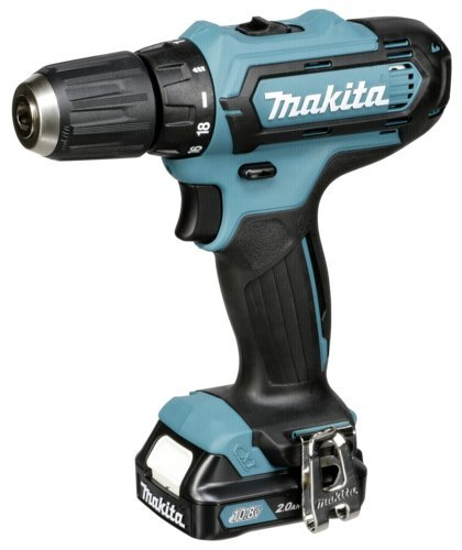Makita df331dwax2 Black, Blue Pistol Grip Drill Lithium-Ion (Li-Ion) 2 Ah 1100 g Cordless Combi Drill – Akku-Bohrer (Pistol Grip Drill, Drilling, Screwdriving, Black, Blue, 2.1 cm, 1 cm, 30 Nm)