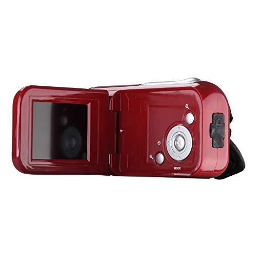 TwoCC Video-Camcorder Hd 720P Handheld-Digitalkamera 4X Digitalzoom 2,0 Zoll (Rot) -