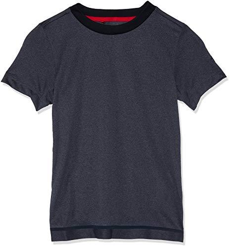 adidas Jungen Barricade Kurzarm T-Shirt, Black Heather, 170