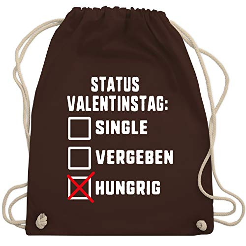 Hungrige Kostüm Kinder - Valentinstag - Status: Valentinstag Single Vergeben Hungrig - Unisize - Braun - WM110 - Turnbeutel & Gym Bag