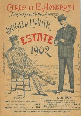 Articoli di novita'. Sartoria da uomo e ragazzi. Estate 1902.