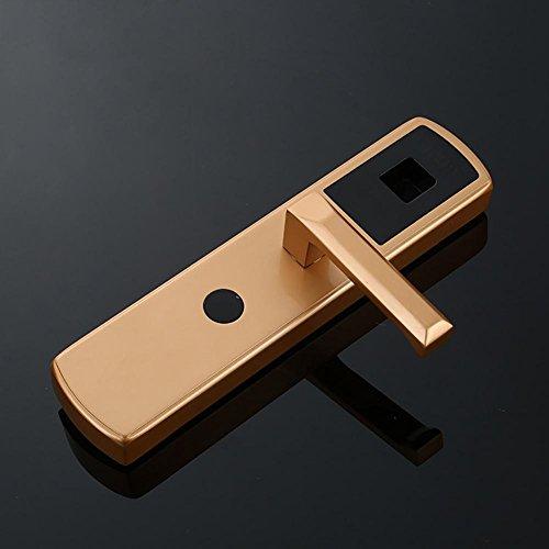 TDJDYQ Intelligent Fingerabdruck Passwort Diebstahlsicherungen Sicherheitsschloss Keyless-Zugang Passwort/ Fingerabdruck/ Mechanischer Schlüssel Freischalten Geeignet für Zuhause / Büro/ Mietwohnungen , Gold