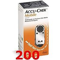 Preisvergleich für ACCU Chek mobil - 200 Kassette test für Kontrolle von Blutzucker - accucheck