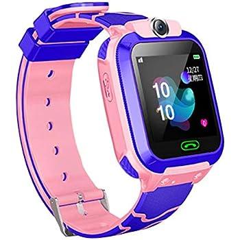 CatcherMy Smart Watch Kids, Teléfono Multifuncional Impermeable con GPS Tracker SOS Compatible con Android y iOS para Edades de 6 a 12 Años