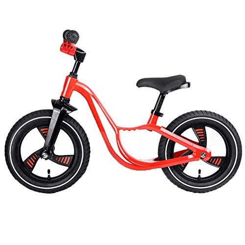CQILONG-Laufrad Klappgriff 90-Grad-Drehbegrenzung Laufendes Fahrrad Abgerundet Und Glatt Einfache Installation Sport Balance Bike (Color : Red, Size : 85x61cm)