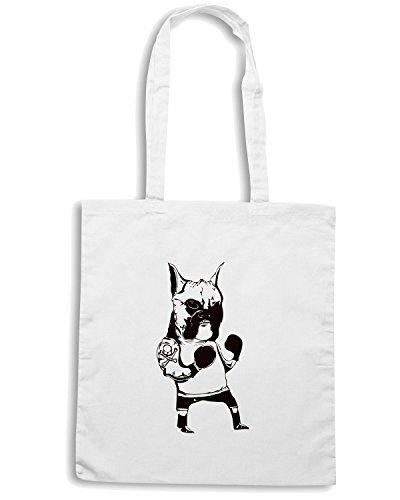 T-Shirtshock - Borsa Shopping FUN0130 05 31 2012 Boxer T SHIRT det Bianco