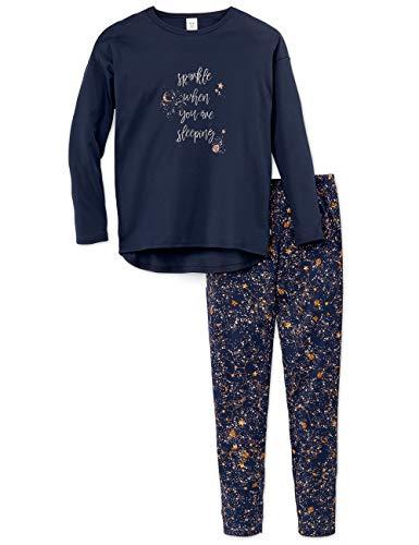 Calida Mädchen Girls Stars Zweiteiliger Schlafanzug, Blau (Peacoat Blue 488), (Herstellergröße:152)