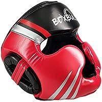 MonH - Casco de Boxeo, protección para la Cabeza de Boxeo, para niños y Adultos, Color Rojo, tamaño Medium