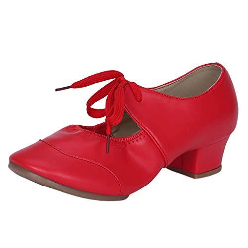 Amlaiworld Damenschuhe mit einfarbigen Schuhen Latin Dance Schuhe Ballettschuhe Modern Dance Schuhe Einzelschuhe Tanzschuhe Singles Shoes