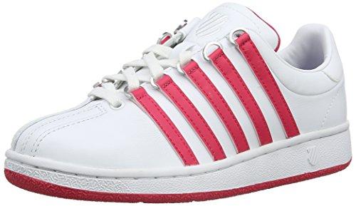 K-Swiss Classic Vn M, Baskets basses femme Blanc - White (White/Pink)
