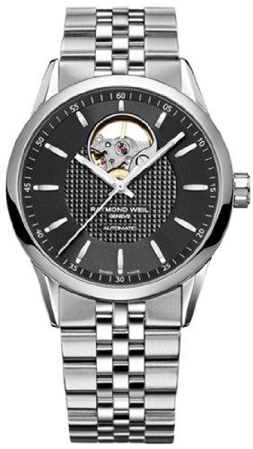 Raymond Weil Freelancer Automatic Open Balance Wheel orologio da uomo quadrante nero 2750-st-20021
