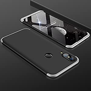 eCosmos Double Dip Full Protection Back Cover Case for Huawei P20 Pro / P20 Pro - (Silver and Black)
