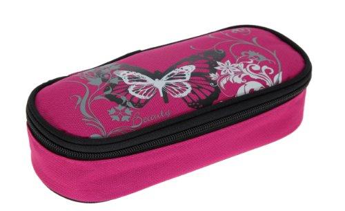FABRIZIO Butterfly Beauty Schulrucksack 3er SET: Sporttasche + Mäppchen MAGENTA - 6