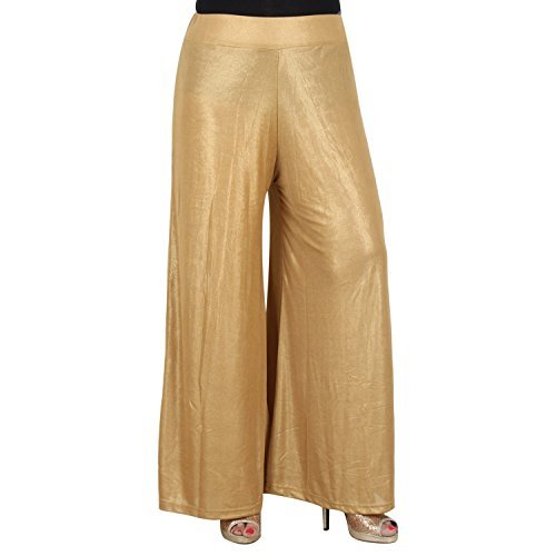 golden colour party wear palazzo devider pants for women in free size...